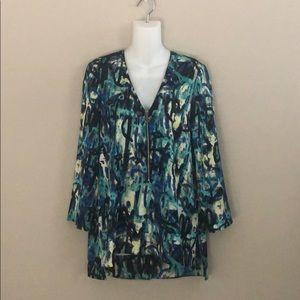 RACHEL Rachel Roy abstract print tunic blouse